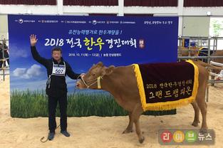 충북 음성 홍창영씨 한우, 대한민국 최고 한우 등극